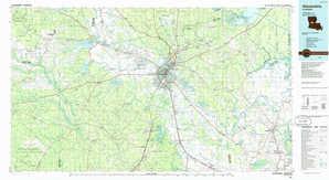 Alexandria topographical map