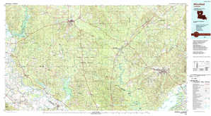 Winnfield topographical map