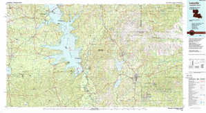 Leesville topographical map