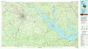 Lufkin topographical map