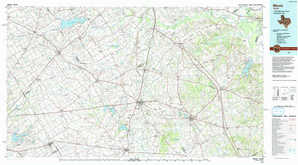 Mexia topographical map