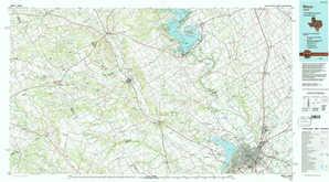 Waco topographical map