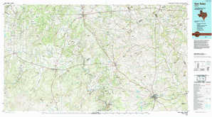 San Saba 1:250,000 scale USGS topographic map 31098a1