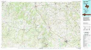 San Saba topographical map