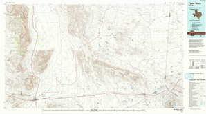 Van Horn topographical map