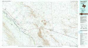 Sierra Blanca topographical map