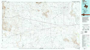 Dell City topographical map