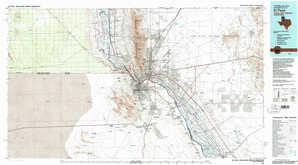 El Paso 1:250,000 scale USGS topographic map 31106e1