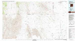 Alamo Hueco Mountains topographical map