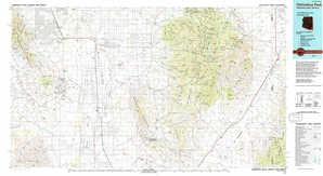 Chiricahua Peak topographical map