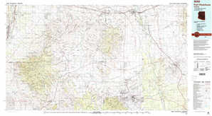 Fort Huachuca topographical map