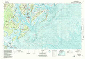 Beaufort topographical map