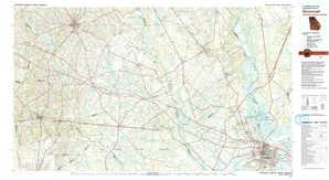 Savannah topographical map
