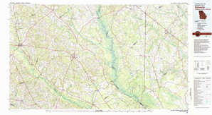 Sylvania topographical map