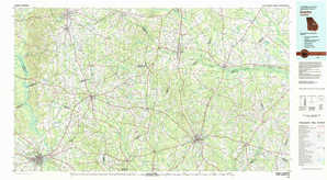 Dublin topographical map