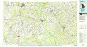 Hawkinsville topographical map