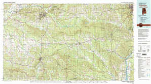 Tuskegee topographical map