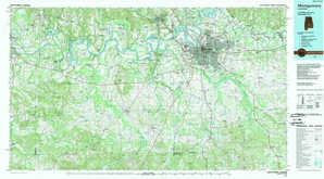 Montgomery topographical map