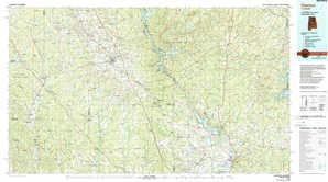 Clanton topographical map