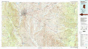 Meridian topographical map