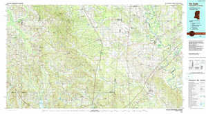 De Kalb topographical map