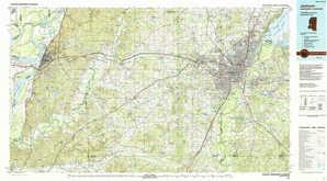 Jackson topographical map