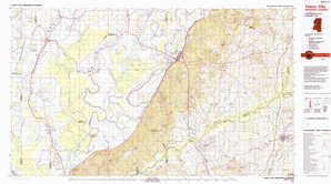Yazoo City topographical map