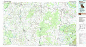 Tallulah topographical map
