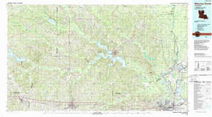 Monroe North topographical map