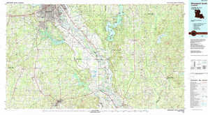 Shreveport South topographical map