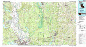 Shreveport North topographical map