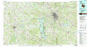 Tyler topographical map