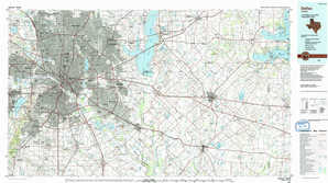 Dallas topographical map