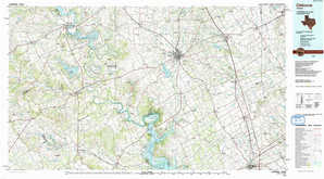 Cleburne topographical map