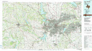 Fort Worth topographical map