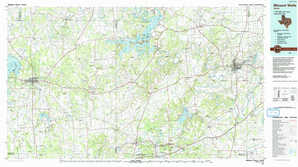 Mineral Wells topographical map