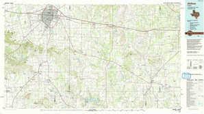 Abilene topographical map
