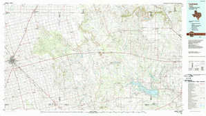 Lamesa topographical map