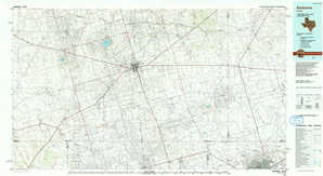 Andrews topographical map