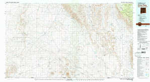 Crow Flats topographical map