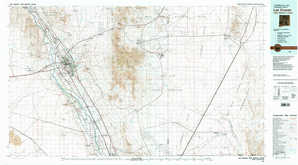Las Cruces topographical map