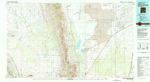 White Sands topographical map