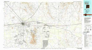 Deming topographical map