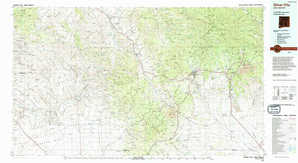 Silver City topographical map