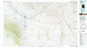 Safford topographical map
