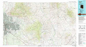 Tucson topographical map