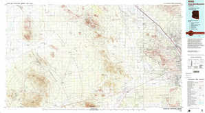 Silver Bell Mountains topographical map