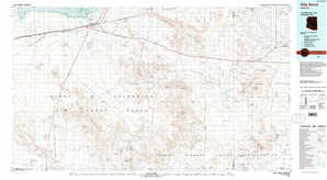 Gila Bend topographical map
