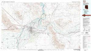Yuma 1:250,000 scale USGS topographic map 32114e1