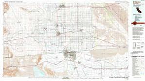 El Centro 1:250,000 scale USGS topographic map 32115e1